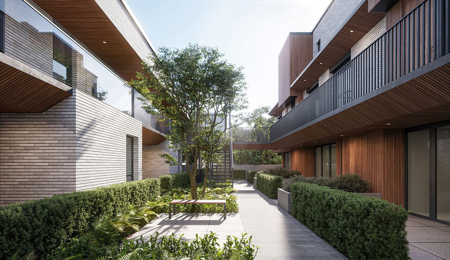 the willow vancouver presale courtyard