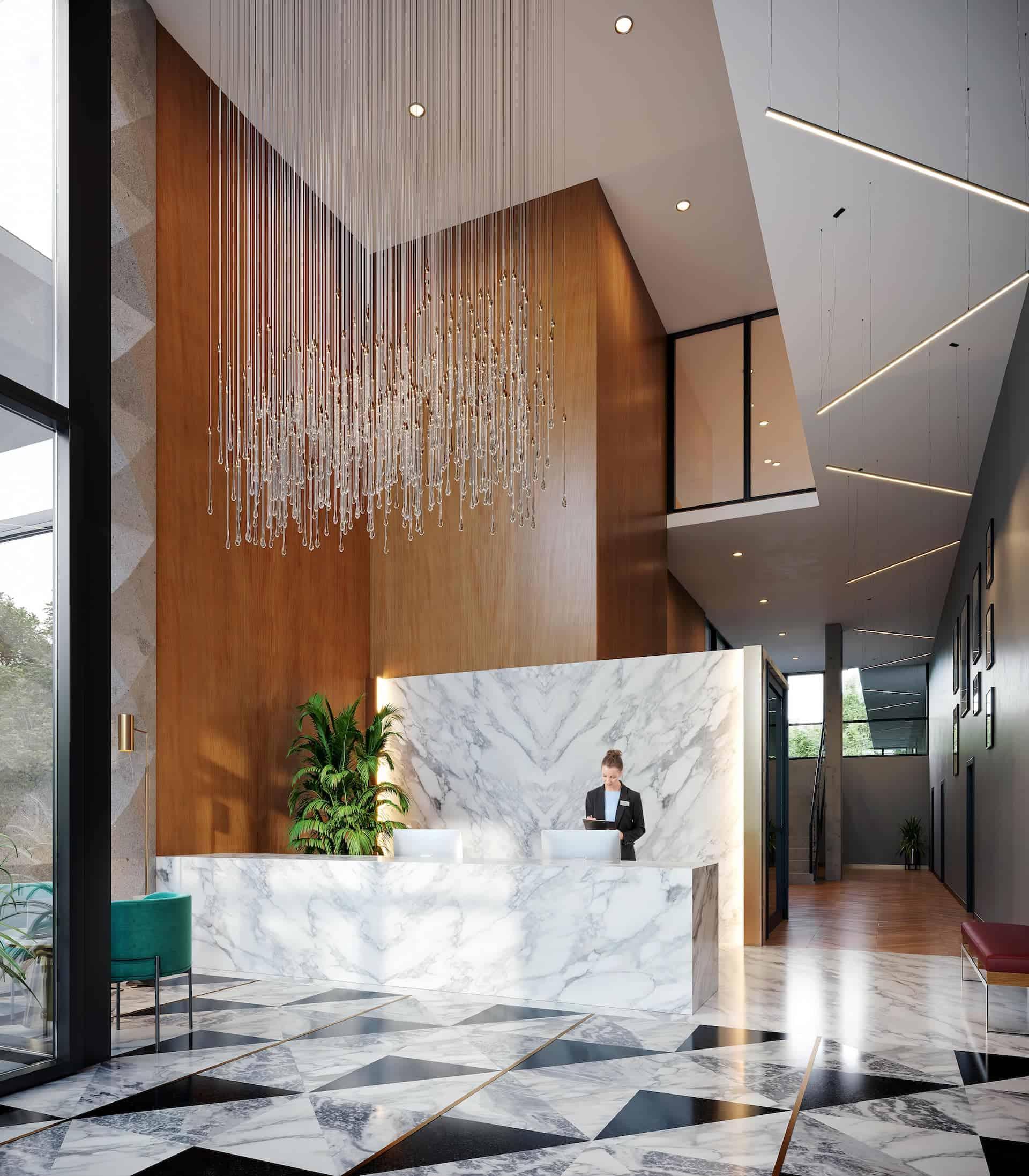 melrose Surrey presale lobby