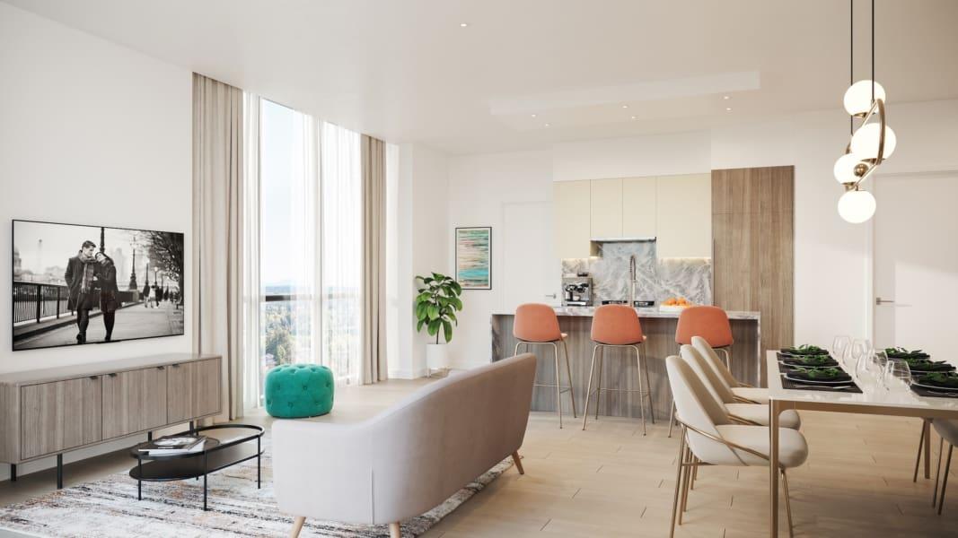 melrose Surrey presale living room